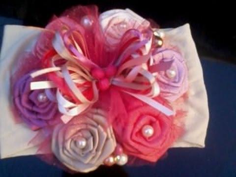 Como hacer una tiara con mo o de rosas de liston no 17 - Como secar una rosa ...