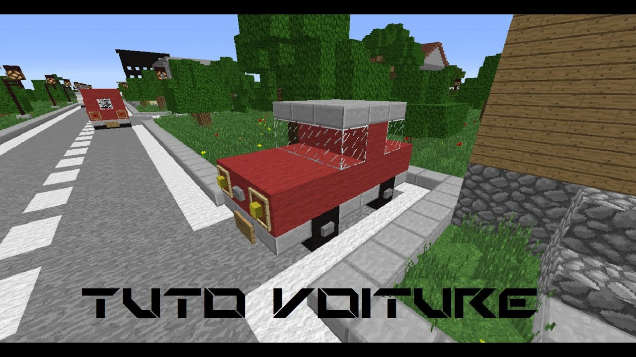 minecraft tuto comment faire une voiture youtube. Black Bedroom Furniture Sets. Home Design Ideas