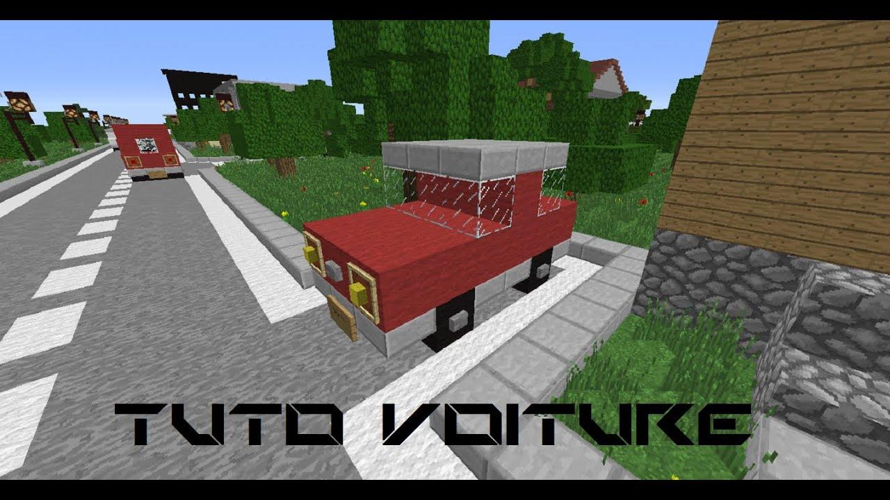 Minecraft tuto comment faire une voiture youtube for Comment faire une petite maison minecraft