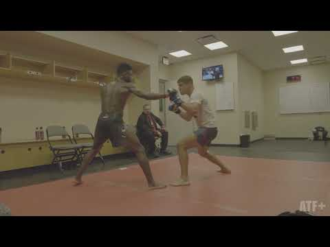 Aljamain Sterling spars with Al Iaquinta - ATF+