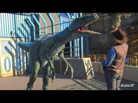 Blue the Raptor at Jurassic World Universal Studios Hollywood