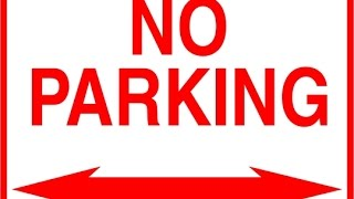 SLAPPING A NO PARKING SIGN
