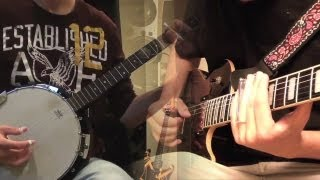 Super Mario World - Athletic Theme Banjo & Guitar Duel ft. SongeLeReveur