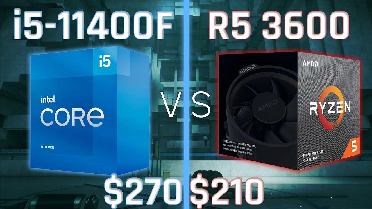 i5-11400F vs Ryzen 5 3600   Gaming, Workstation, Power