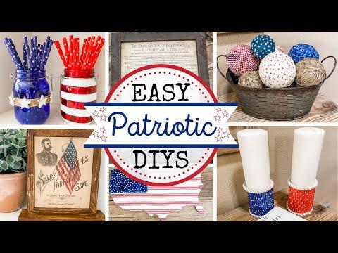 🇺🇸 Quick & Easy Patriotic Decor |  Dollar Tree DIYS 🇺🇸