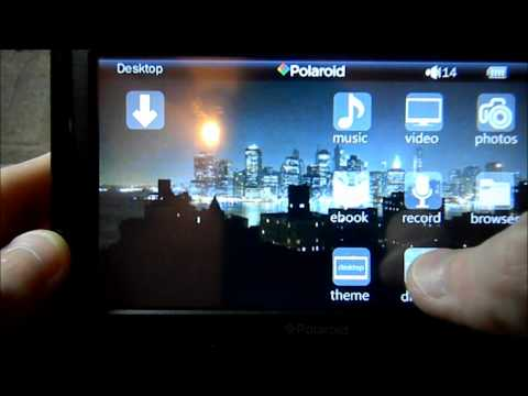 """Polaroid 5"""" digital media player pmp500-4 HD touch screen review"""