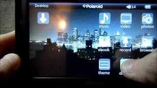 "Polaroid 5"" digital media player pmp500-4 HD touch screen review"