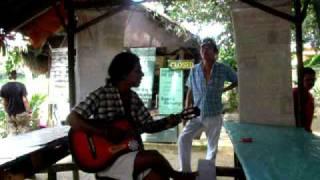 Jungle Asri singing Malay Love Song in Kuala Tahan, Malaysia