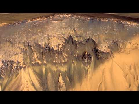 Images of Mars Show Probable Liquid Water | NASA JPL MRO Planet HD Video
