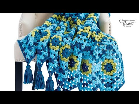 How to Crochet A Wave Afghan: Using Granny Squares to Start