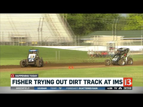 Sarah Fisher Trying Out Dirt Track
