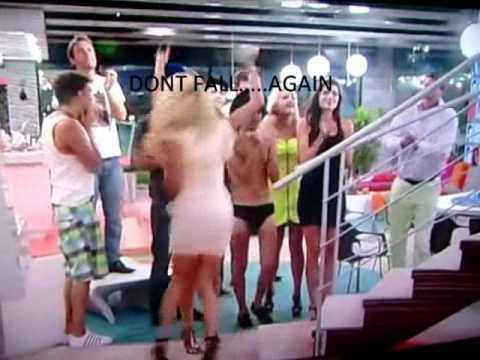 BIG BROTHER 2011 - HEAVEN FALLS DOWN STAIRS LOL!