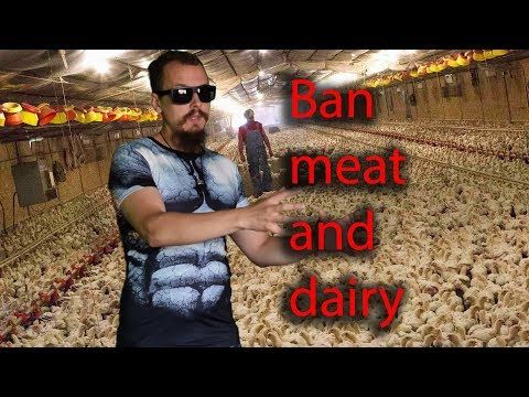 Ban meat and dairy lifetime in prison (go vegan)