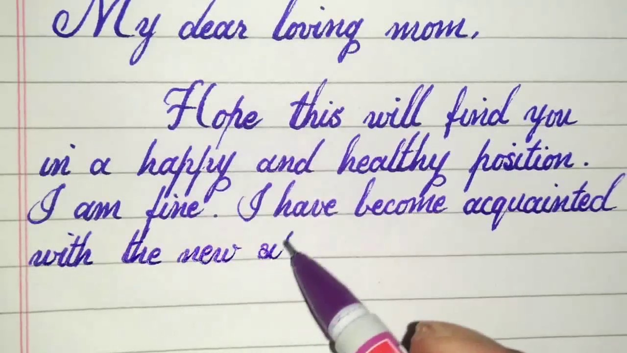 A Letter To Mom.Letter To Mom From Hostel
