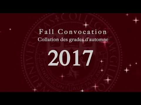 McGill University Fall Convocation AM