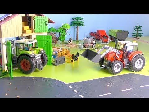 Trecker Spielzeug: Tag Auf Dem Playmobil Bauernhof / Traktor Film & Tiere / Tractor & Farm Life