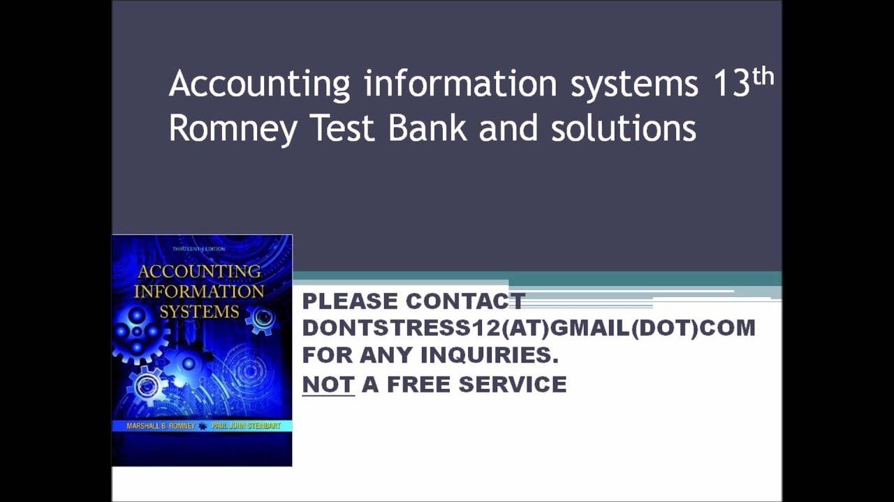 Accounting information systems romney test bank