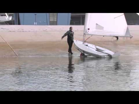 How to Sail - Single Handed - Beach Launching: Part 4 of 5: Offshore Wind