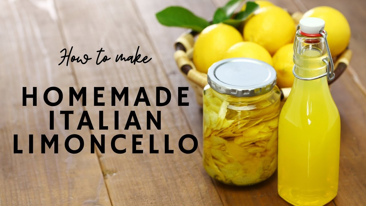 How To Make Authentic Italian Limoncello Recipe Youtube