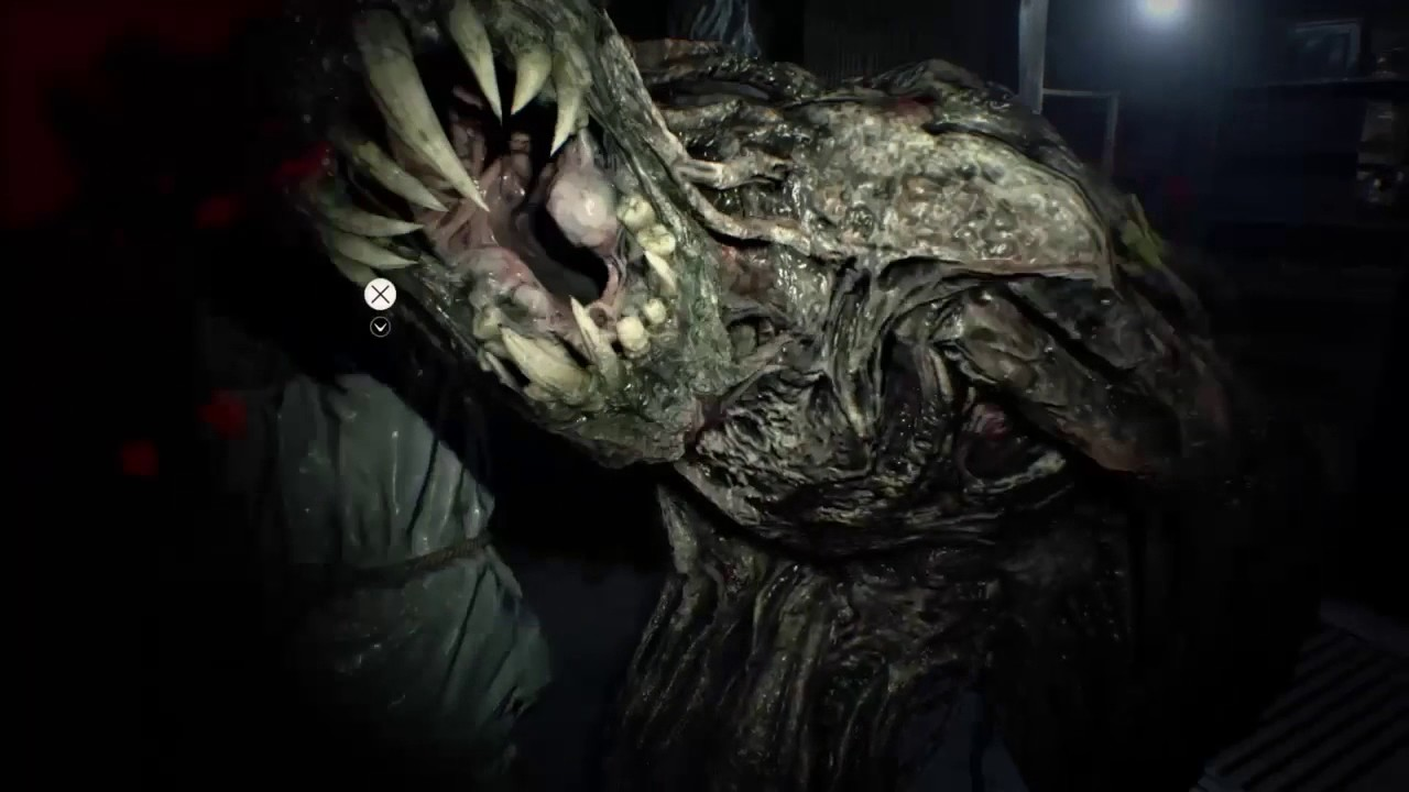 Resident Evil 7 Defeat The Monster Only Axe Youtube