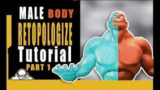 Part 1 Blender 2.8 Male Body Retopology tutorial