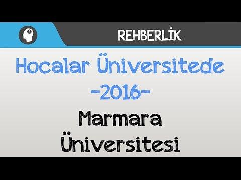 Hocalar Üniversitede - Marmara Üniversitesi