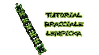 Tutorial bracciale rocailles e cipollotti Lempicka come realizzare un gioiello