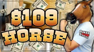 DEEP IN THE $109 HORSE WCOOP EVENT - $12,000+ FOR 1ST!! | PokerStaples Stream Highlights