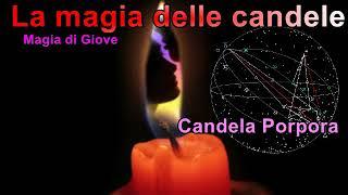 Magia con le candele Giove candela Porpora cose dello spirito, affari.