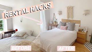 Rental Room Makeover On A Budget   Easy Home Decor Hacks 2019