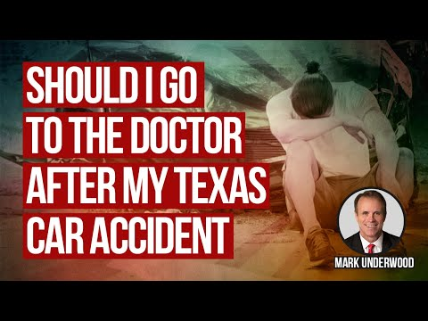 Should I go to the doctor for my back injury after my Texas car accident?