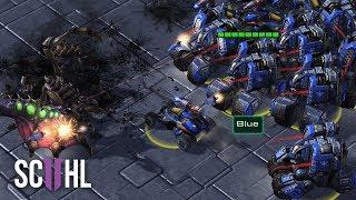 MASS CYCLONES & HELLIONS - Starcraft 2 GSL: Fantasy vs Leenock