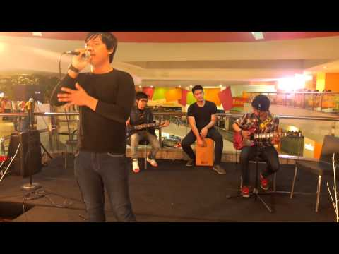 The Fight band (indonesia) - Wherever you will go cover at Plaza Blok M