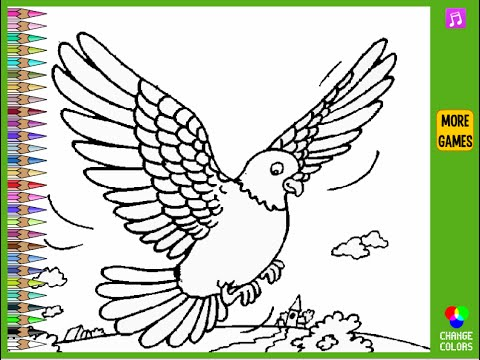 Pigeon Coloring Pages For Kids   Pigeon Coloring Pages