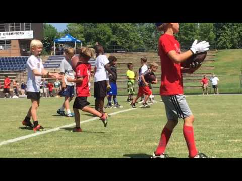 Aaron Murray hosts youth football camp at Stratford Academy