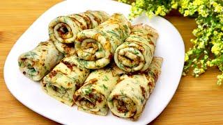 Нереально вкусные СЫРНЫЕ БЛИНЧИКИ с зеленью! РЕЦЕПТ сырных блинов! / CHEESE PANCAKES