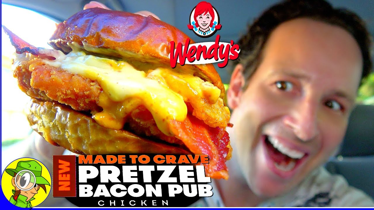 Wendy S Pretzel Bacon Pub Chicken Sandwich Review Peep This Out Youtube