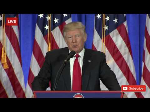 President Donald Trump Press Conference at Trump Tower FULL SPEECH HD 1 11 17 ✔   YouTube