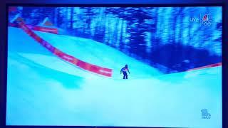Joel Gisler crash Olympics halfpipe