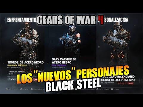LOS NUEVOS PERSONAJES ACERO NEGRO?? GEARS OF WAR 4
