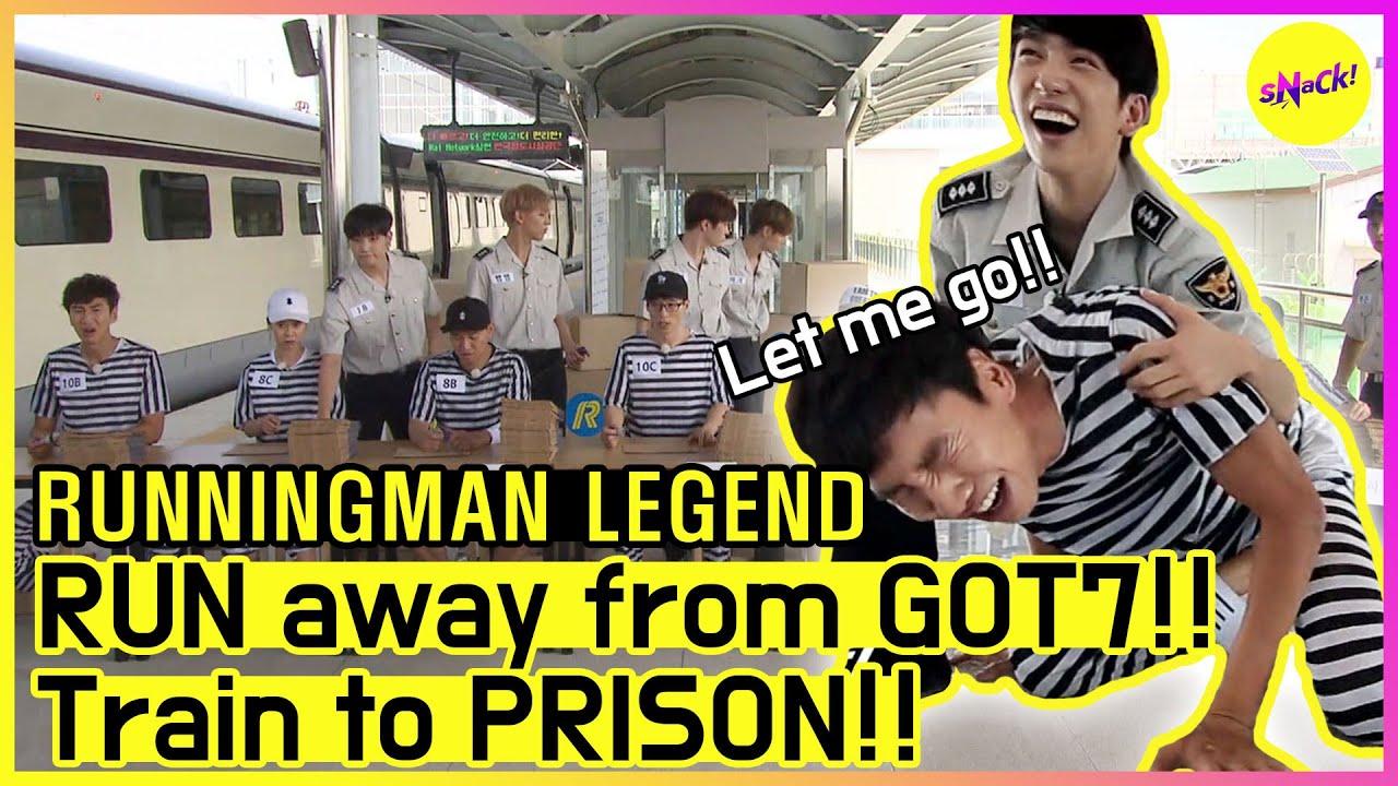 [RUNNINGMAN THE LEGEND] Prison Break, the guards are GOT7!? (ENG SUB)