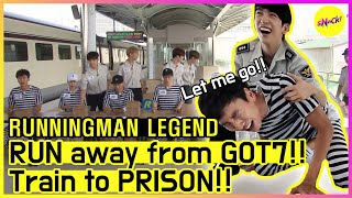 [RUNNINGMAN THE LEGEND] Prison Break, the guards are GOT7!? (ENG SUB)