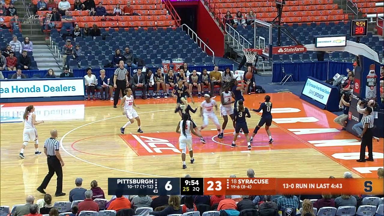 Tv Highlights Syracuse Vs Pitt Youtube