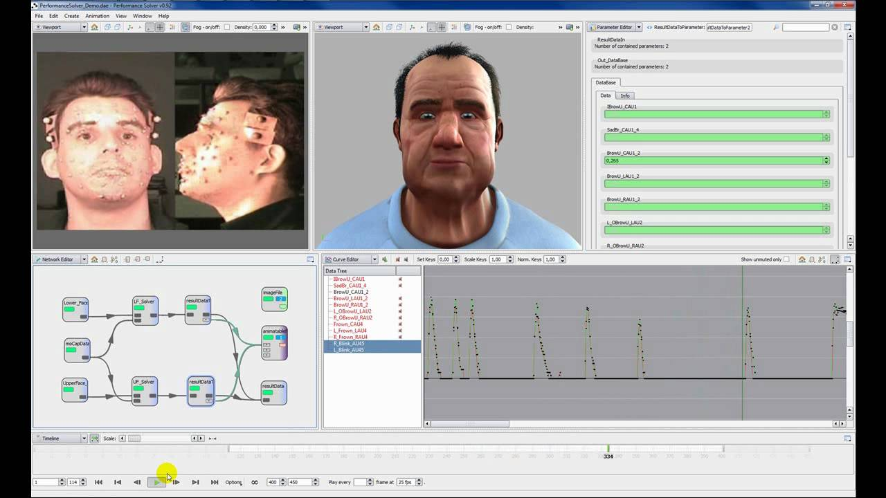 facial animation toolset