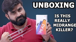 XIAOMI MI A3 UNBOXING   48MP,SONYIMX586,SOC665   IS THIS REALLY MID RANGE KILLER?