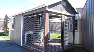 DERKSEN 8X16 DOUBLE DOG KENNEL AT BIG W's PORTABLE BUILDINGS IN LAFAYETTE LOUISIANA
