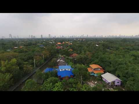 Bang Krachao (Lung of Bangkok) drone view | Parrot Bebop 2 Power [RAW footage]