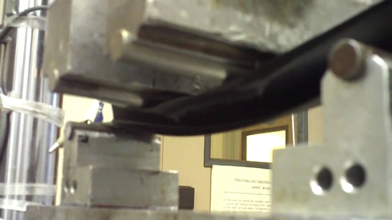 Carbon Fiber Composite I-Beam Testing part 2 - YouTube