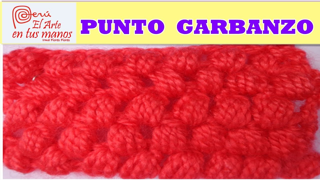 PUNTO GARBANZO A CROCHET. PARA PRINCIPIANTES - YouTube