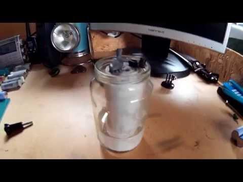12 Volt lead acid battery dismantled